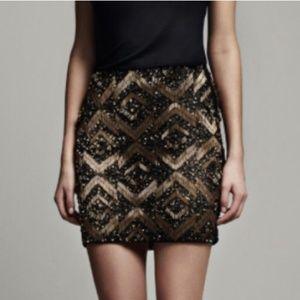 All Saints sequin skirt